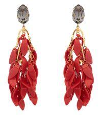 Marni - Red Multi Petal Drop Earrings - Lyst
