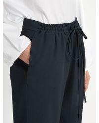 Jil Sander - Gray Cyrius Wide-leg Crepe Trousers - Lyst
