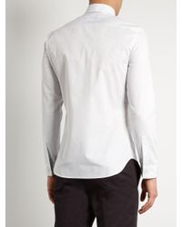 Maison Margiela | White Pinstriped Single-cuff Cotton Shirt for Men | Lyst