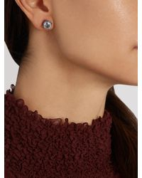 Bottega Veneta | Metallic Cubic-zirconia And Silver Earrings | Lyst