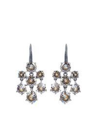 Bottega Veneta | Blue Cubic-zirconia And Silver Chandelier Earrings | Lyst