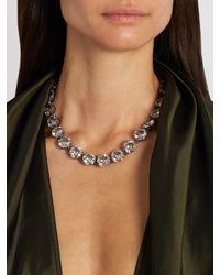Bottega Veneta - Multicolor Cubic-zirconia And Silver Necklace - Lyst