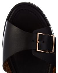 Robert Clergerie | Black Feitv Leather Platform Sandals | Lyst