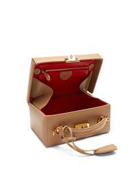 Mark Cross Natural Grace Large Leather Box Bag
