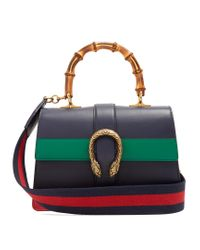 Gucci | Blue Dionysus Bamboo-handle Medium Leather Tote | Lyst