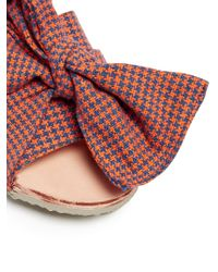 Brother Vellies - Multicolor Burkina Checked-bow Leather Slides - Lyst