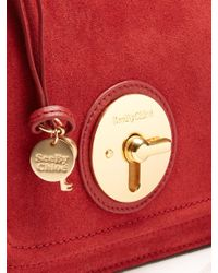See By Chloé - Red Lois Small Suede Cross-body Bag - Lyst