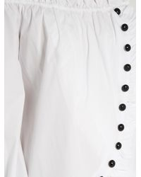 Caroline Constas - White Dalia Off-the-shoulder Cotton Blouse - Lyst