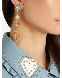 Miu Miu - Metallic Flamingo And Scorpion Clip-on Earrings - Lyst