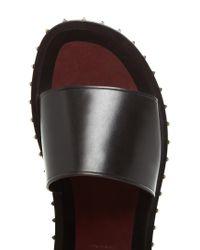 Valentino - Black Rockstud Leather Slides for Men - Lyst