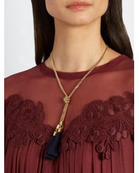 Chloé | Multicolor Lynn Tassel-drop Necklace | Lyst