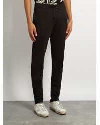 Saint Laurent - Black Side-zip Track Pants for Men - Lyst