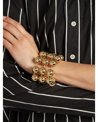 Balenciaga - Metallic Triple Ball-bead Chain Bracelet - Lyst