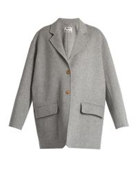 Acne | Gray Lupi Doublé Wool-blend Coat | Lyst