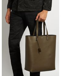 Saint Laurent - Multicolor Medium Leather Tote for Men - Lyst