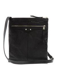 Balenciaga | Black Arena Leather Messenger Bag for Men | Lyst