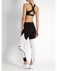 Adidas By Stella McCartney Black Contrast-panel Performance Leggings