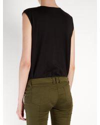 Balmain - Black Logo-print Cotton-jersey Tank Top - Lyst