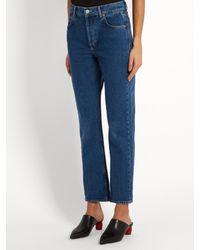 Balenciaga - Blue Straight-leg Jeans - Lyst