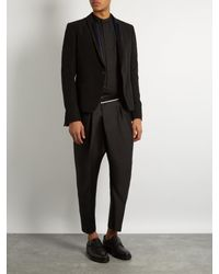 Haider Ackermann - Black Laurel Tapered-leg Cropped Mohair Trousers for Men - Lyst
