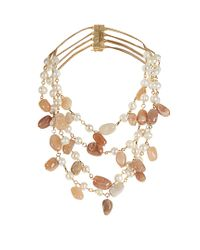 Rosantica By Michela Panero | Multicolor Kiwi Pearl And Sunstone Necklace | Lyst