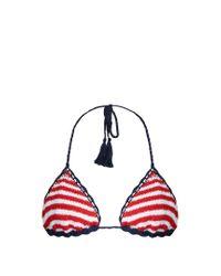Anna Kosturova | Red Sailor Sliding Striped Bikini Top | Lyst