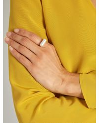 Lucy Folk | Multicolor Pill Popper Pearl And Gold-plated Ring | Lyst