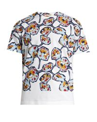 Marni | Blue Printed Cotton-jersey T-shirt for Men | Lyst