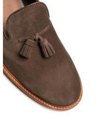 Brunello Cucinelli - Brown Tassel Suede Loafers for Men - Lyst