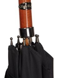 London Undercover - Black London Vintage-map Beech-handle Umbrella - Lyst