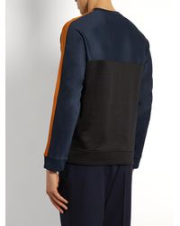 AMI - Blue Crew Neck Sweatshirt for Men - Lyst