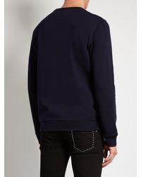 Fendi | Blue Piro-chan Appliqué Jersey Sweatshirt for Men | Lyst