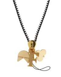 Chaos - Metallic F Gold-plated Charm - Lyst