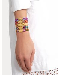 Lucy Folk - Multicolor Citrus Gold-plated Friendship Bracelet - Lyst