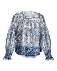 Sea - Blue Ines Porcelain-print Cotton Top - Lyst