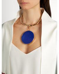 Etro - Blue Ceramic-disc Necklace - Lyst
