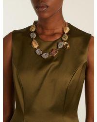 Christopher Kane   Multicolor Natural-stone Embellished Necklace   Lyst
