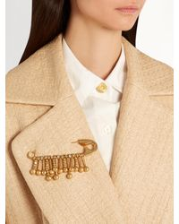 Sonia Rykiel - Metallic Beaded-fringe Safety-pin Brooch - Lyst