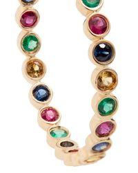 Alison Lou - Metallic Emerald, Ruby, Sapphire & Gold Twister Earrings - Lyst