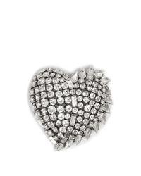 Saint Laurent | Metallic Smoking Crystal-embellished Brooch | Lyst