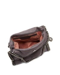 Stella McCartney - Gray Falabella Mini Faux-suede Cross-body Bag - Lyst