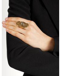 Alexander McQueen - Metallic Engraved Ring - Lyst
