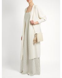Ryan Roche - White Long-line Cashmere Cardigan - Lyst