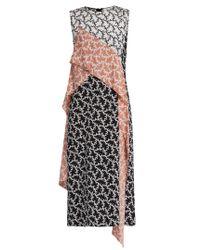 Diane von Furstenberg | Black Contrast-panel Silk Dress | Lyst