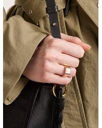 Isabel Marant - White Stone Embellished Ring - Lyst