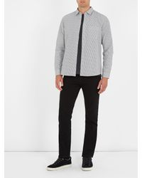 A.P.C. - Gray Jac Striped Cotton Shirt for Men - Lyst