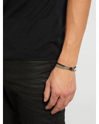 Title Of Work - Metallic Leather And Sterling-silver Wrap Bracelet for Men - Lyst