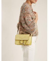 Chloé Yellow Faye Small Leather And Suede Cross-body Bag