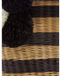 Sophie Anderson - Black Costello Striped Wicker Shoulder Bag - Lyst