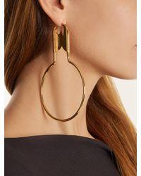Balenciaga - Metallic Round Safety Pin Earrings - Lyst